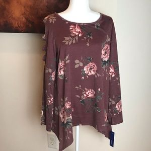 NWT Apt 9 Floral Swing Top - Large